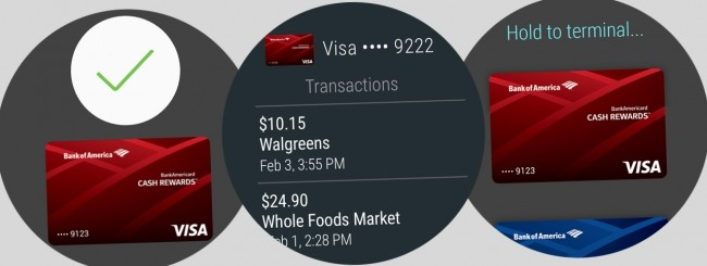 Android Pay su Android Wear