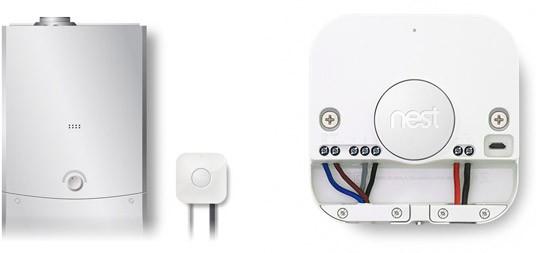L'unità Heat Link va collegata tra la caldaia e il Nest Learning Thermostat