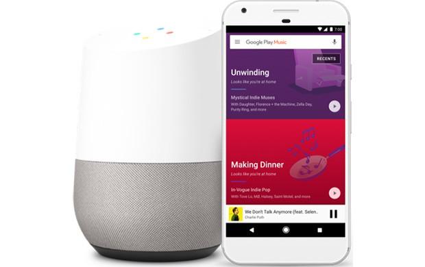 Google annuncia l'integrazione ufficiale tra lo speaker intelligente Home per la casa e il servizio di streaming Play Musica