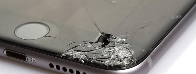 iPhone, vetro rotto