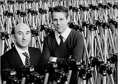 Lino Manfrotto (a destra) e Gilberto Battocchio (a sinistra) nel 1976