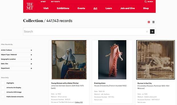 La collezione del Metropolitan Museum of Art di New York è, da oggi, liberamente accessibile