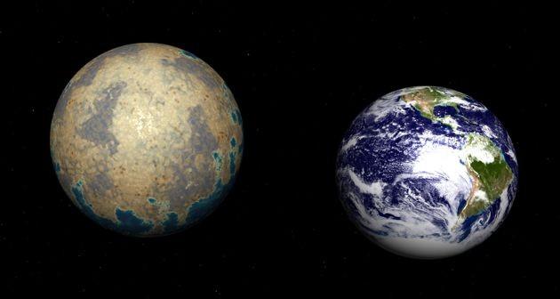 Esopianeta Trappist-1d e pianeta Terra