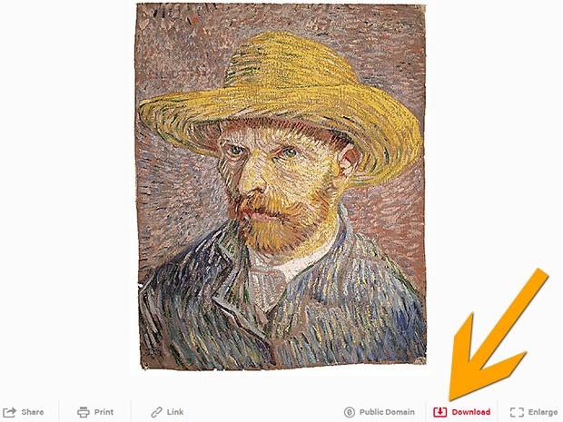 Vincent van Gogh Self-Portrait with a Straw Hat: per scaricare l'opera in alta risoluzione basta un click