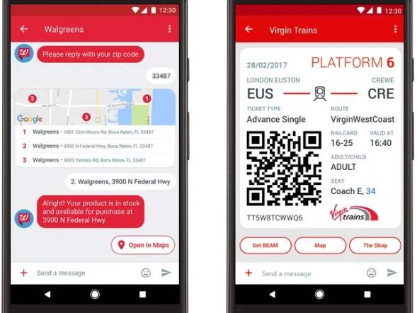 Un esempio dei messaggi RCS che le aziende possono inviare ai loro utenti e clienti, un passo in avanti rispetto ai tradizionali SMS