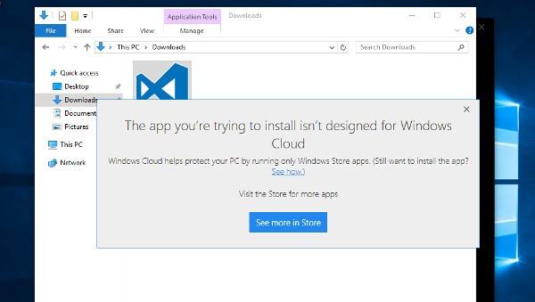 Windows 10 Cloud, upgrade dal Windows Store