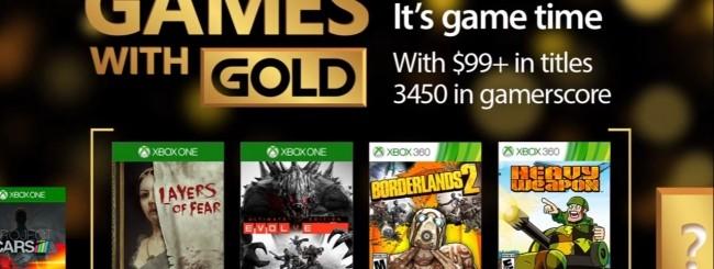Microsoft svela i Games With Gold di marzo 2017