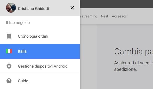 Sono sufficienti pochi click per navigare tra il catalogo dei Google Store esteri