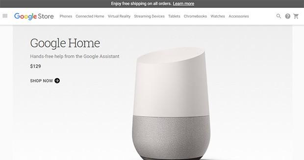 Ecco il catalogo offerto da Google Store negli Stati Uniti, decisamente più ricco rispetto a quello italiano