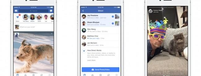 Facebook - Storie e Direct