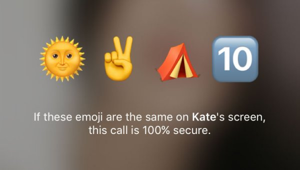 Telegram - Emoji per chiamate vocali cifrate