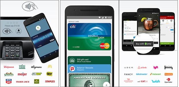 L'applicazione ufficiale di Android Pay, per la gestione dei pagamenti