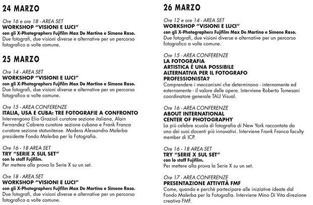 Il calendario con gli appuntamenti dell'International Photo Project 2017