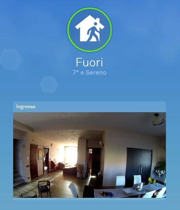 Schermata di monitoraggio da remoto