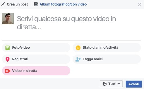 Facebook Live anche da desktop e laptop