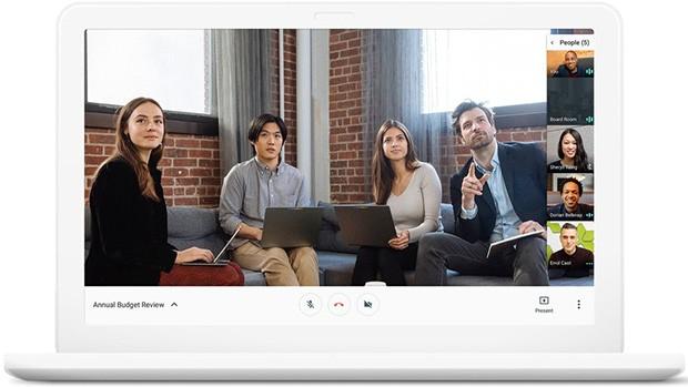 L'interfaccia di Meet, una delle due applicazioni nate dallo split di Hangouts