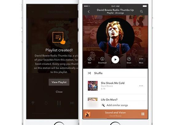 Le playlist di Pandora messe a disposizione di chi sceglie il nuovo abbonamento Premium