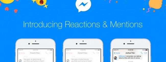 Facebook Messenger, arrivano le reazioni