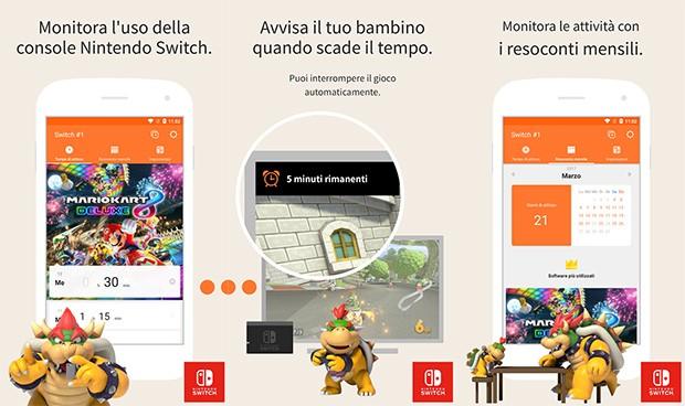 L'applicazione Filtro famiglia per Nintendo dedicata al parental control della console Switch