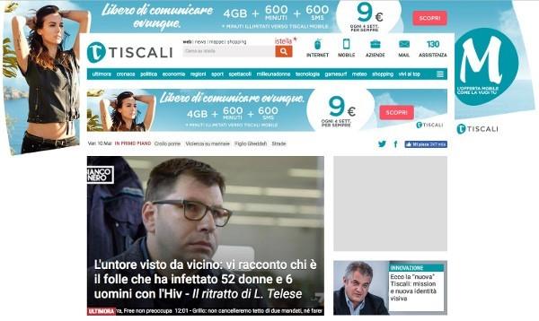 Il nuovo sito di Tiscali