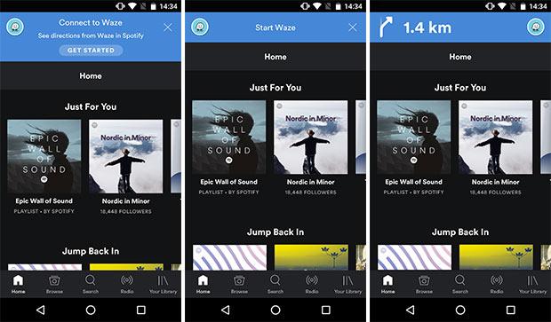 Spotify - Waze
