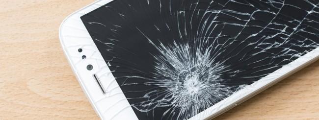 Schermo rotto smartphone