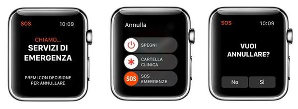 SOS, Apple Watch