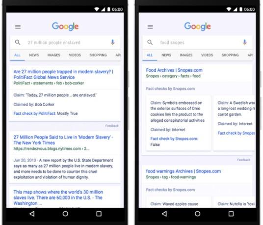 L'etichetta Fact Check per le notizie di Google News, anche su mobile