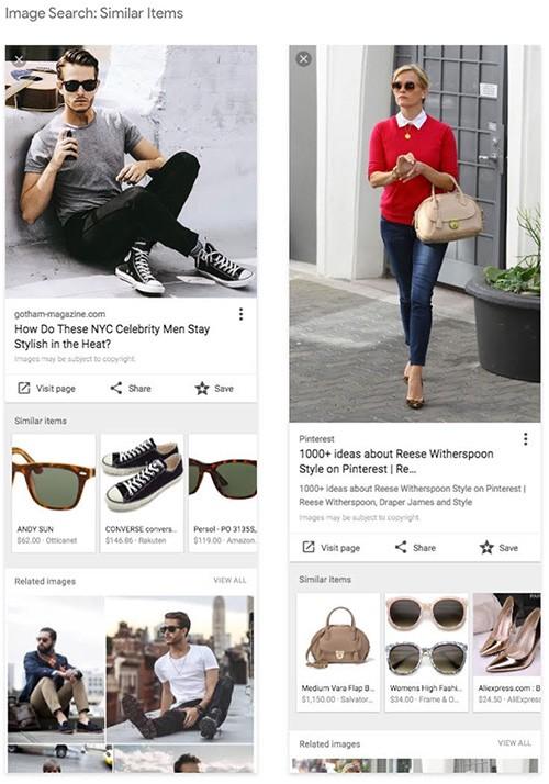 Suggerimenti per lo shopping (prezzo e sito dove acquistare) direttamente nella sezione Immagini del motore di ricerca: una funzionalità basata sugli algoritmi di machine vision sviluppati da Google
