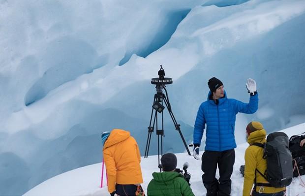 YI HALO in azione su un ghiacciaio