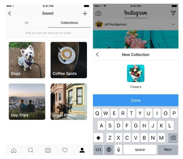 Collezioni private per fare ordine tra i post salvati — Instagram