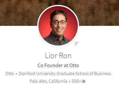 Lion Ron, co-fondatore di Otto, su LinkedIn