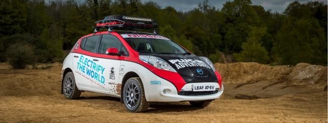 Nissan Leaf, le auto elettriche sbarcano nei rally