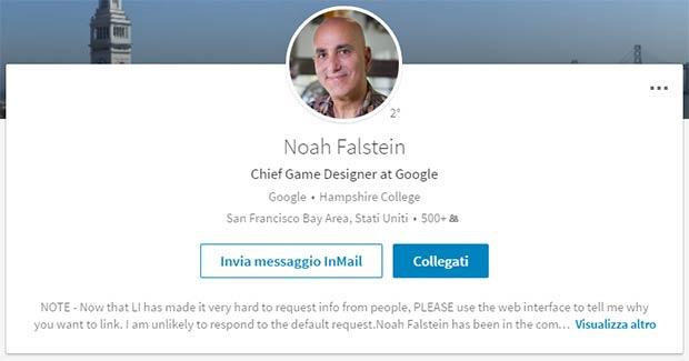Il profilo professionale di Noah Falstein