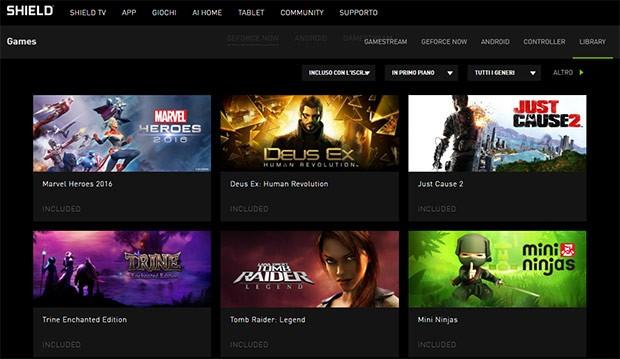 Alcuni dei giochi presenti nel catalogo del servizio NVIDIA GeForce Now