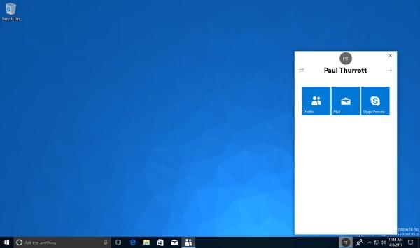 Windows 10 Redstone 3, riappare My People