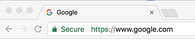 """L'icona verde del lucchetto e la dicitura """"Sicuro"""" nella barra dell'indirizzo garantiscono la piena protezione dei dati trasmessi durante la navigazione online"""