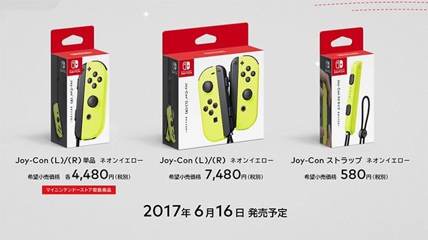 I Joy-Con di Nintendo Switch nella nuova colorazione Neon Yellow