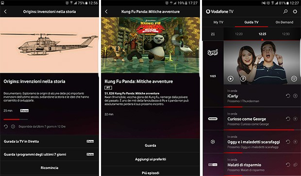 L'applicazione di Vodafone TV è disponibile in download per Android e iOS