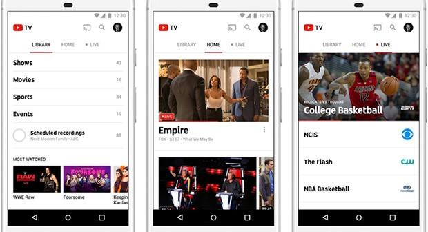 L'applicazione ufficiale di YouTube TV