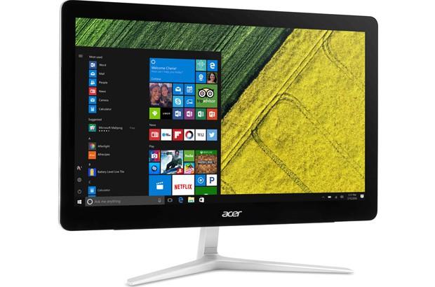Il computer all-in-one Acer Aspire Z24, con monitor Full HD da 23,8 pollici e sistema operativo Windows 7