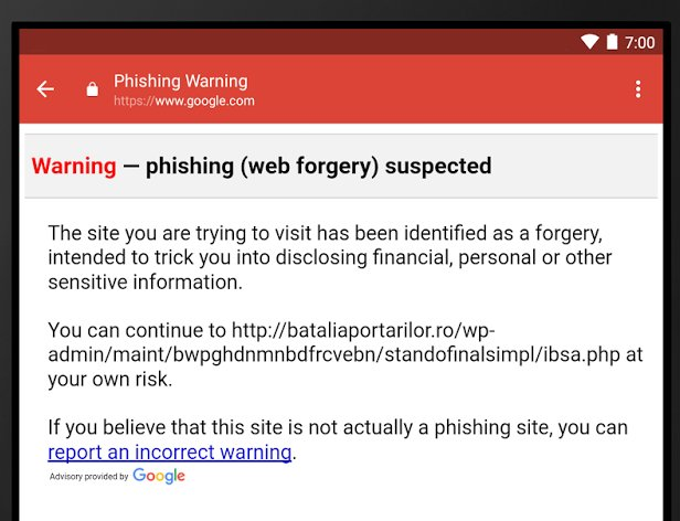 Google introduce un anti-phishing su Gmail per Android