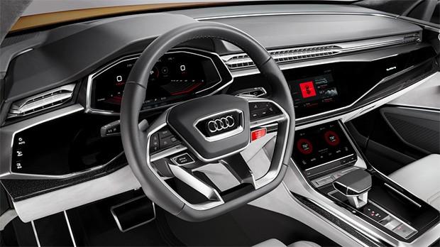 Il concept di Audi Q8 Sport equipaggiato con una piattaforma di infotainment basata sul sistema operativo Android