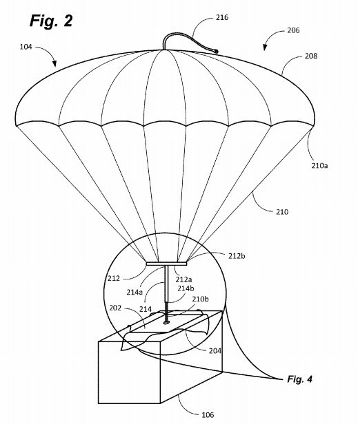 I droni di Amazon lanceranno i pacchi con il paracadute