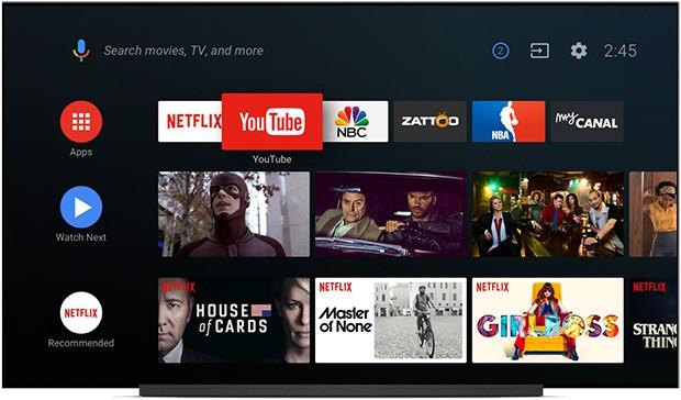 Una nuova interfaccia per la schermata Home di Android TV