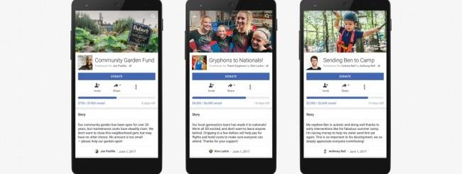Facebook amplia il servizio di raccolta fondi