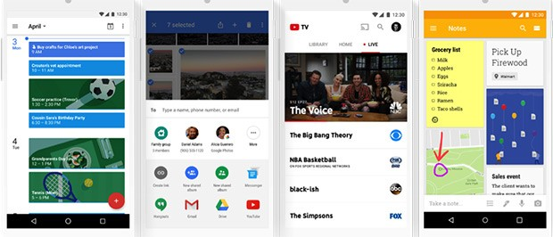 I servizi di Google interessati dalle condivisioni del Gruppo Famiglia
