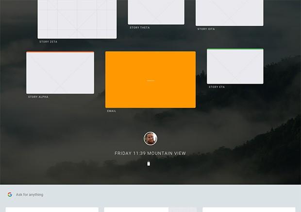 Screenshot per l'interfaccia di Fuchsia, il nuovo e misterioso sistema operativo di Google