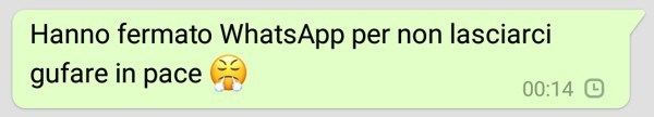 Screenshot da WhatsApp
