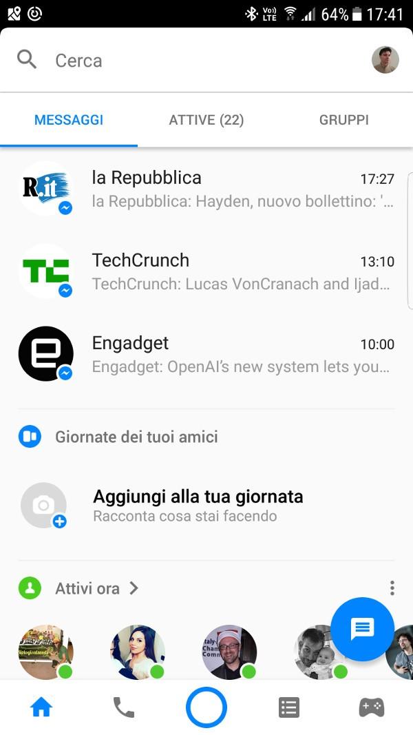 Facebook Messenger, debutta un nuovo look